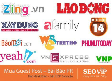 Mua Guest Post – Backlink Báo PR – Bài viết TOP Chất lượng, giá rẻ