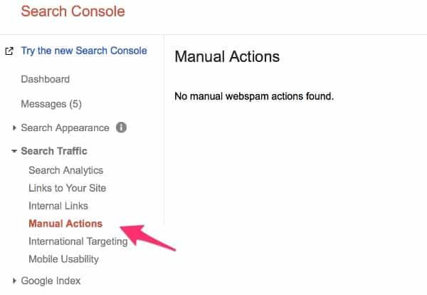 Kiểm tra google search console