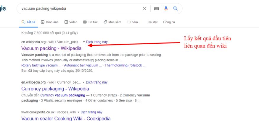 Tìm nội dung trên wiki liên quan đến từ khóa