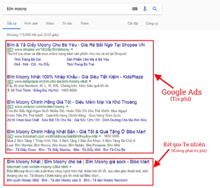 quảng cáo google adwords tại Huế