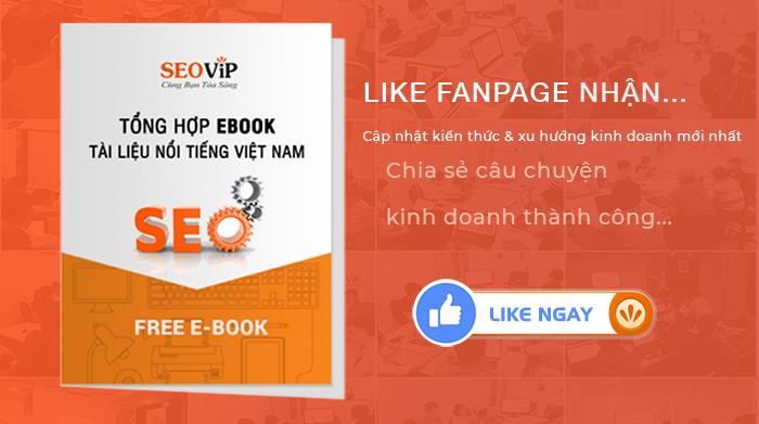 Like Fanpage nhận quà