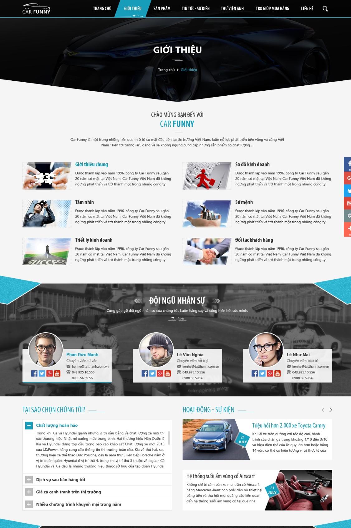 Thiết kế website ô tô tại SEOViP chuyên nghiệp - chuẩn SEO