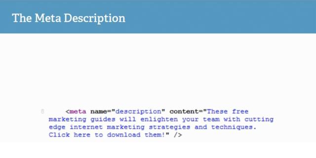 Source code của Meta Description