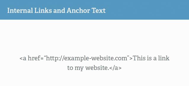 Code của Internal Link và Anchor Text