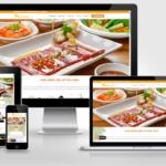 Thiết kế website Nhà hàng quán ăn, quán nhậu sang trọng, tiện dụng